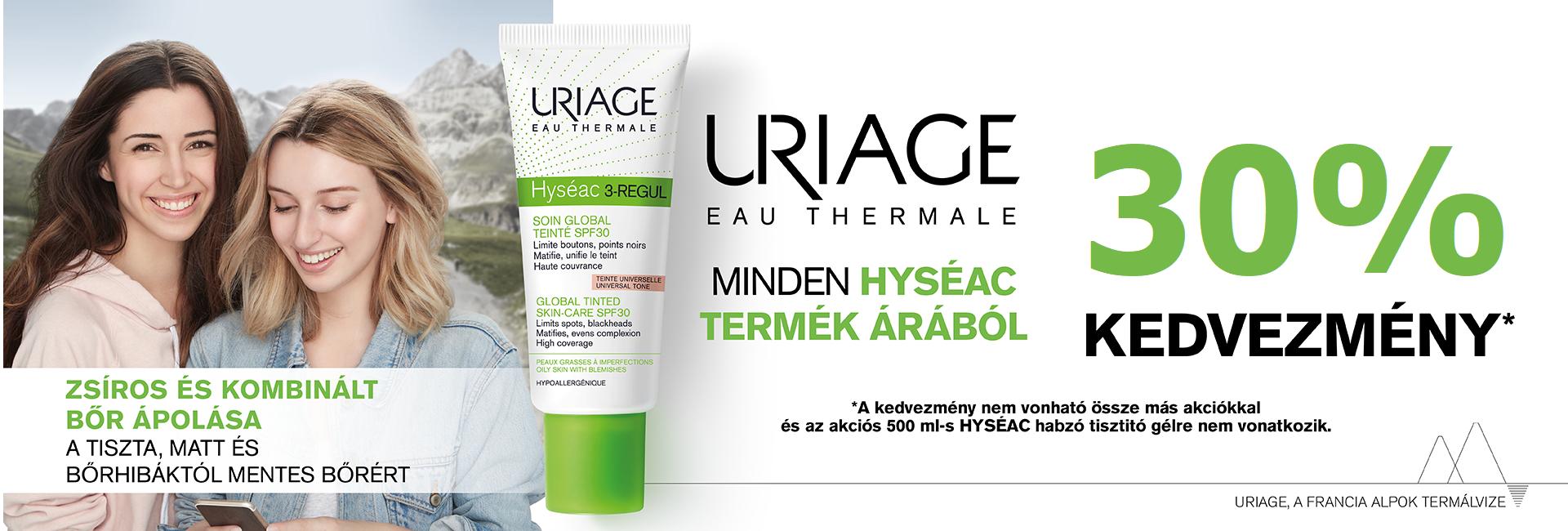 2020. március 30-ig minden Uriage Hyséac termékre 30% kedvezményt adunk!
