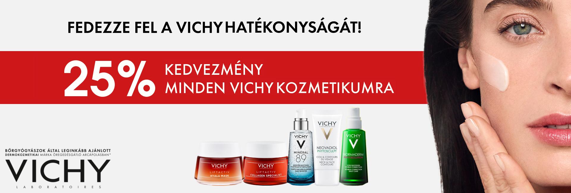 2020. február 10-17. között minden Vichy terméket 25% kedvezménnyel kínálunk!