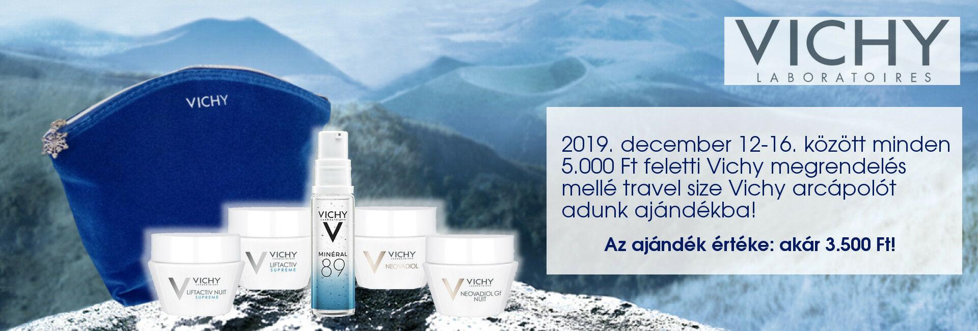 2019. december 12-16. között minden 5.000 Ft feletti Vichy megrendelés mellé travel size Vichy arcápolót adunk ajándékba!