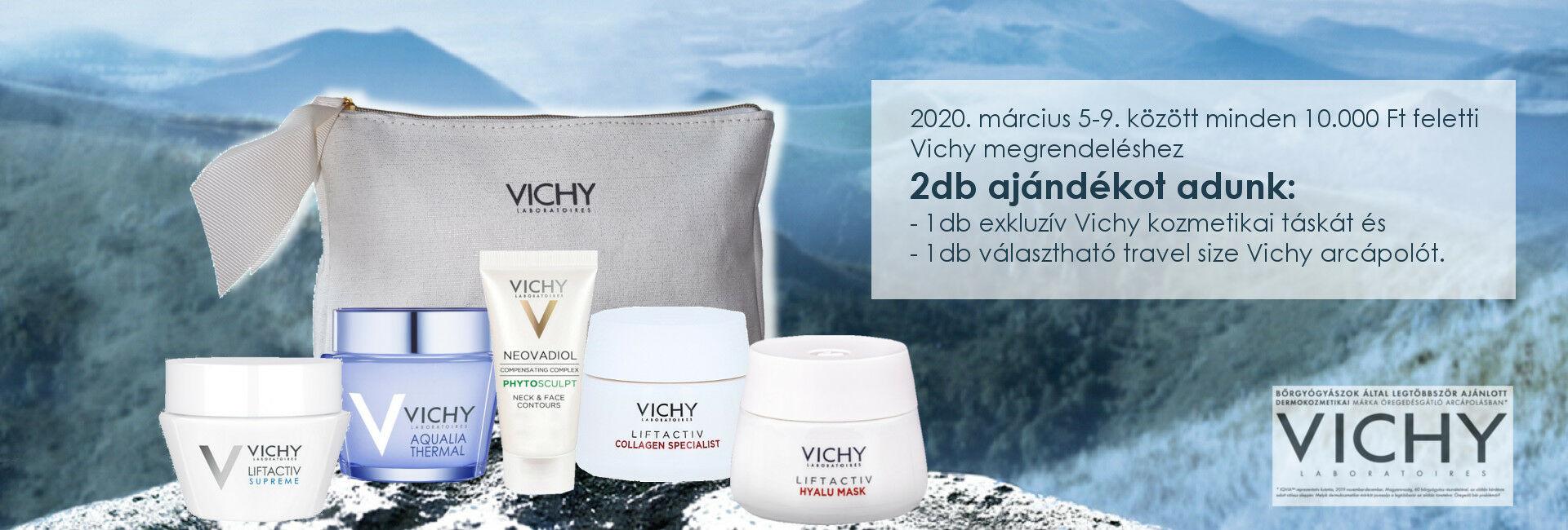 Vichy Nőnapi akció: ajándék exkluzív Vichy kozmetikai táska és választható mini termék!