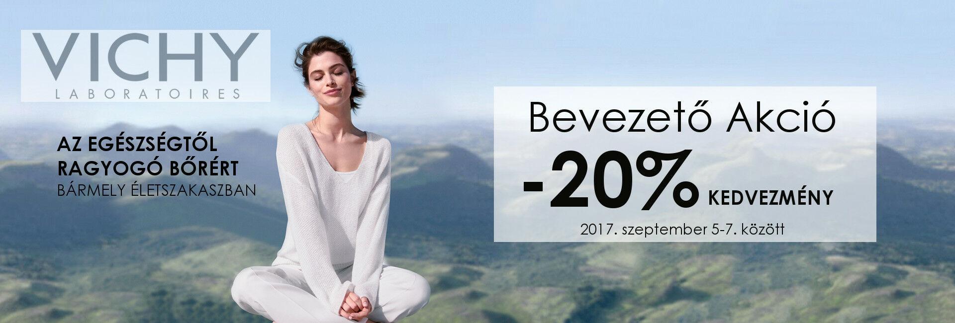 Minden Vichy terméket 20% kedvezménnyel kínálunk szeptember 5-7. között!