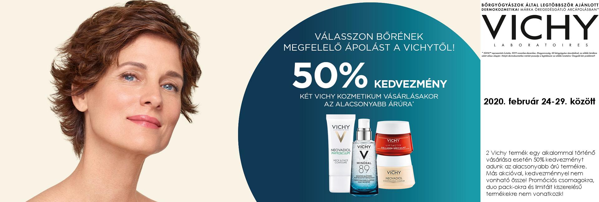 2020. február 24-29. között a második Vichy terméket 50% kedvezménnyel kínáljuk!