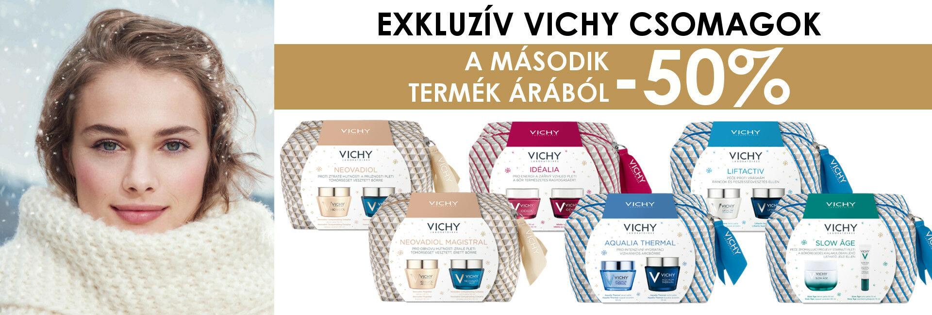 Vichy karácsonyi csomagokban a 2.termék 50% kedvezménnyel!