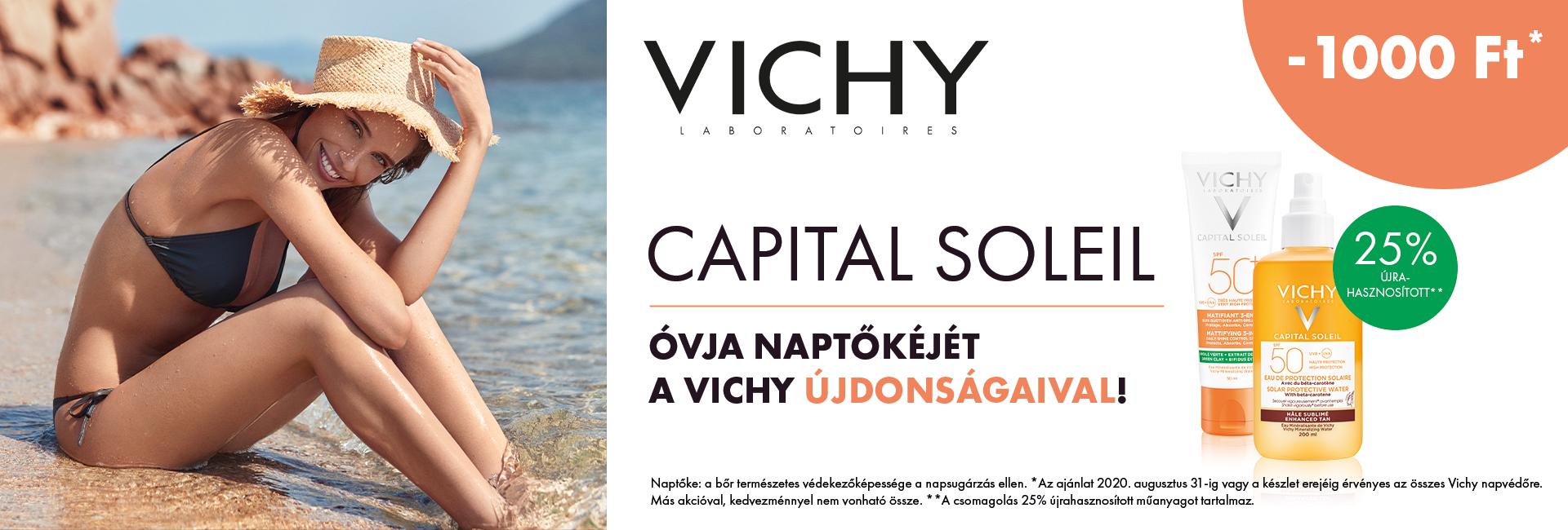 Minden Vichy Ideal Soleil és Capital Soleil napozót 1.000 Ft kedvezménnyel kínálunk!