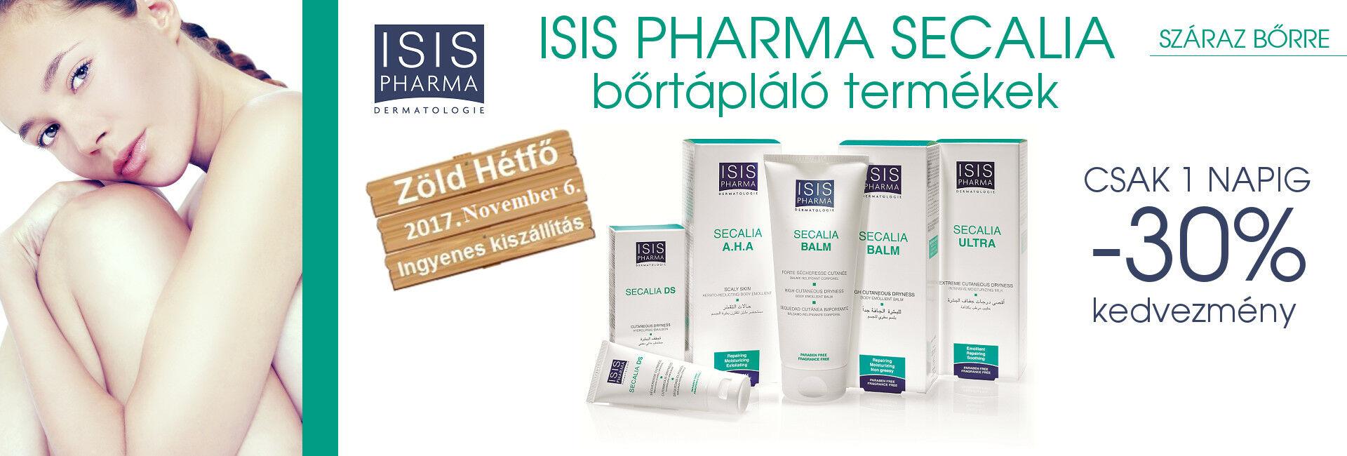 2017. november 6-án minden ISIS PHARMA Secalia terméket 30% kedvezménnyel kínálunk!