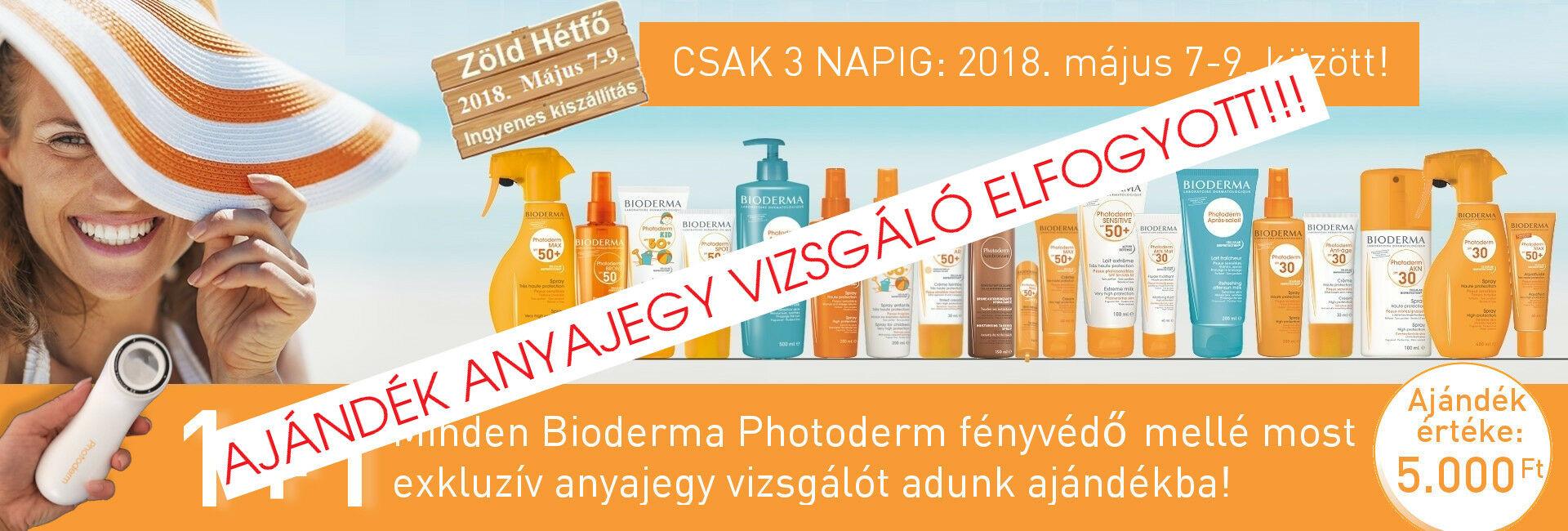 2018. május 7-9. között minden Bioderma Photoderm fényvédő mellé ajándékba adunk 1db exkluzív Bioderma Photoderm anyajegyvizsgálót!