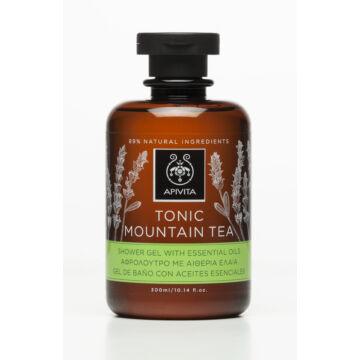 APIVITA Tusfürdő pezsdítő hegyi teával és illóolajokkal 250 ml