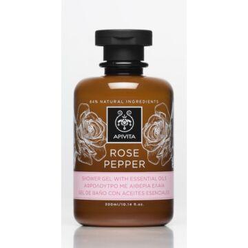 APIVITA Tusfürdő illóolajokkal, bőrfiatalító rózsával & borssal 250 ml
