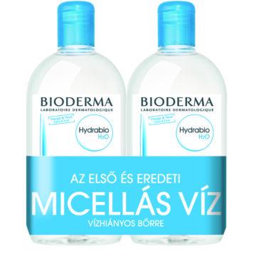 Bioderma Hydrabio H2O arc- és sminklemosó 500ml+500ml DUO PACK