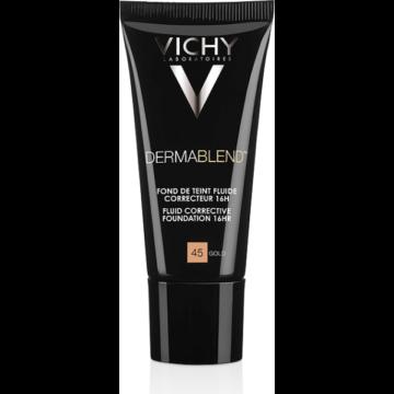 Vichy Dermablend fluid korrekciós alapozó 45 Gold 16H érzékeny bőrre SPF35 30ml