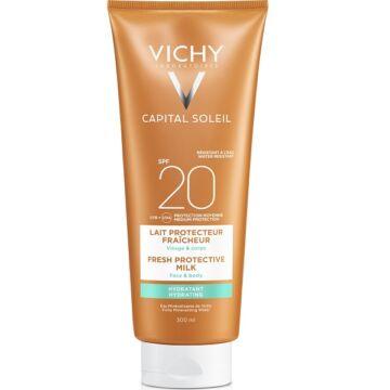 Vichy Capital Soleil Beach Protect Hidratáló naptej arcra és testre SPF20