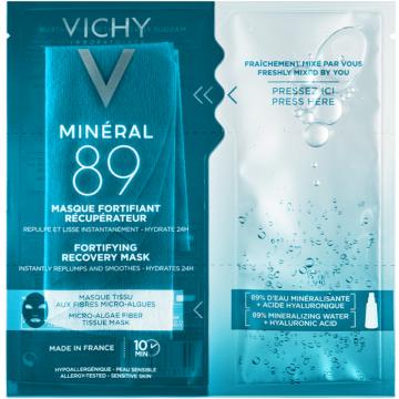 Vichy Minéral 89 Hyaluron-Booster bőrerősítő és regeneráló arcmaszk 29g