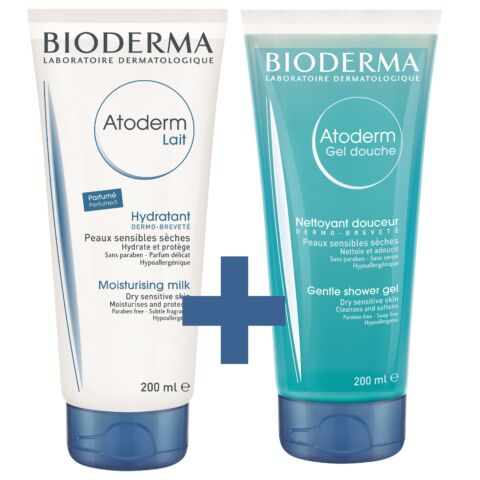 Bioderma Atoderm Testápoló tej + Atoderm tusfürdő