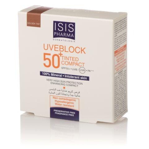 Isis Pharma Uveblock SPF50+ Kompakt púder sötét árnyalat 10g