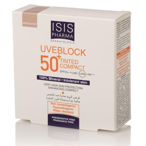 Isis Pharma Uveblock SPF50+ Kompakt púder világos árnyalat 10g