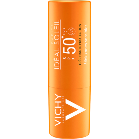 Vichy Idéal Soleil napvédő stift érzékeny területekre SPF 50+ 9 g