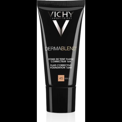 Vichy Dermablend Gold 45 korrekciós alapozó fluid 16H érzékeny bőrre SPF 35 30 ml
