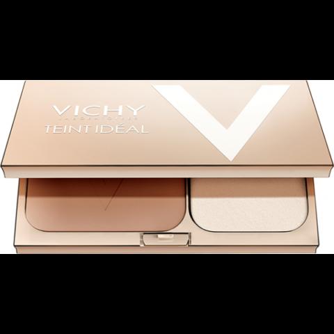 Vichy Teint Idéal 2 ragyogást adó kompakt púder SPF 25 az ideális arcszínért  9,5 g