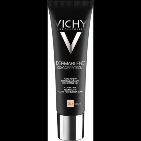 Vichy Dermablend 3D Korrekció 25 Nude alapozó bőrfelszín kisimító hatással 30 ml