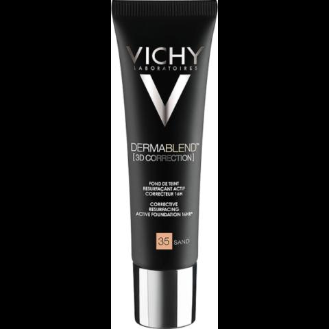 Vichy Dermablend 3D Korrekció 35 Sand alapozó bőrfelszín kisimító hatással 30 ml