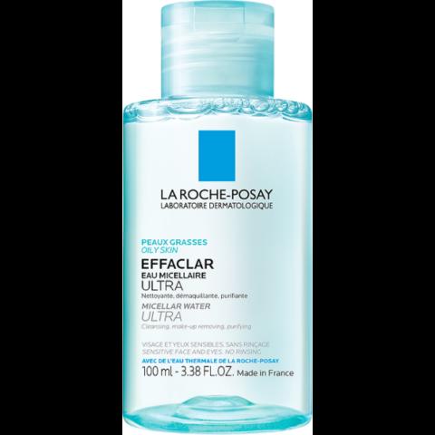 La Roche Posay Effaclar Ultra micellás arctisztító zsíros, érzékeny arcbőrre és szemkörnyékre 100 ml
