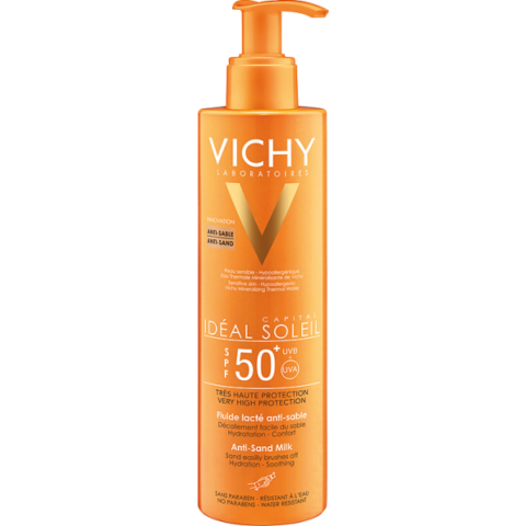 Vichy Idéal Soleil homokálló napvédő tej SPF50+ 200ml