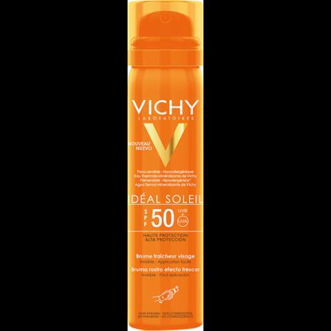 Vichy Idéal Soleil frissítő hatású napvédő arcpermet SPF50 75ml