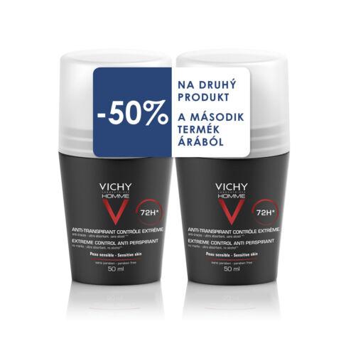 Vichy Homme dezodor 72 órás izzadásgátló DUO PACK (50ml+50ml)