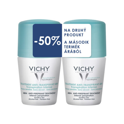 Vichy dezodor izzadságszabályozó golyós erős izzadásra DUO PACK (50ml+50ml)