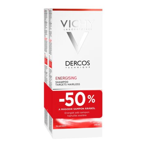Vichy Dercos energiát adó sampon hajhullás esetére DUO PACK (200ml+200ml)