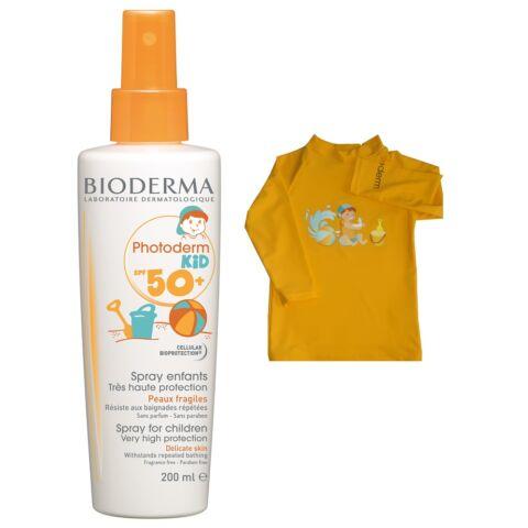Bioderma Photoderm Kid spray SPF50+/UVA36 200ml +AJÁNDÉK UV-szűrős póló