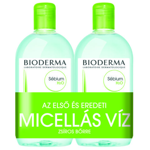 Bioderma Sébium H2O arc- és sminklemosó 500ml+500ml DUO PACK