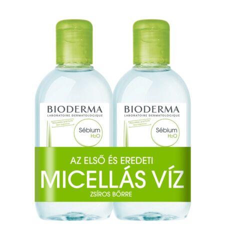 Bioderma Sébium H2O arc- és sminklemosó 250ml+250ml DUO PACK