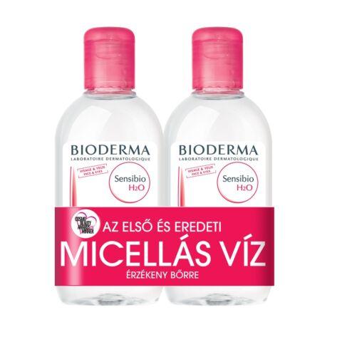 Bioderma Sensibio H2O arc- és sminklemosó 250ml+250ml DUO PACK