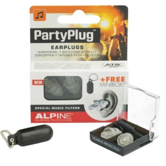 Alpine PartyPlug fesztivál, koncert buli, füldugó