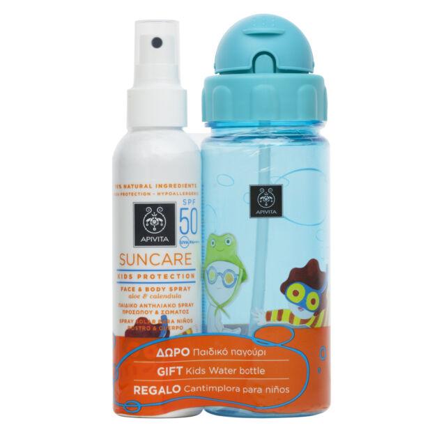 APIVITA SUN KID Gyerek spray SPF50+ 150ml  + Ajándék kulacs