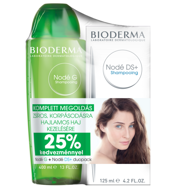 Bioderma Nodé G sampon + Nodé DS+ krémsampon 125ml DUO PACK
