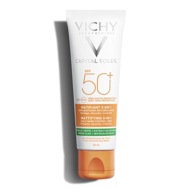 Vichy Capital Soleil mattító 3-in-1 napvédő krém SPF50+ 50 ml