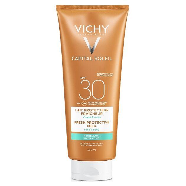 Vichy Capital Soleil Beach Protect Hidratáló naptej arcra és testre SPF30