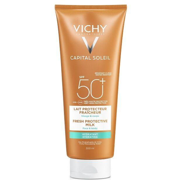 Vichy Capital Soleil Beach Protect Hidratáló naptej arcra és testre SPF50+ 300ml