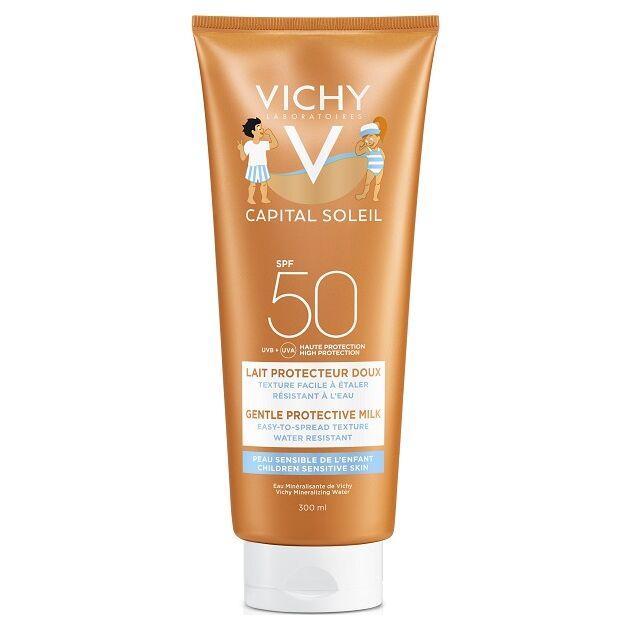 Vichy Idéal Soleil napvédő tej gyerekeknek arcra és testre SPF50+ 300ml