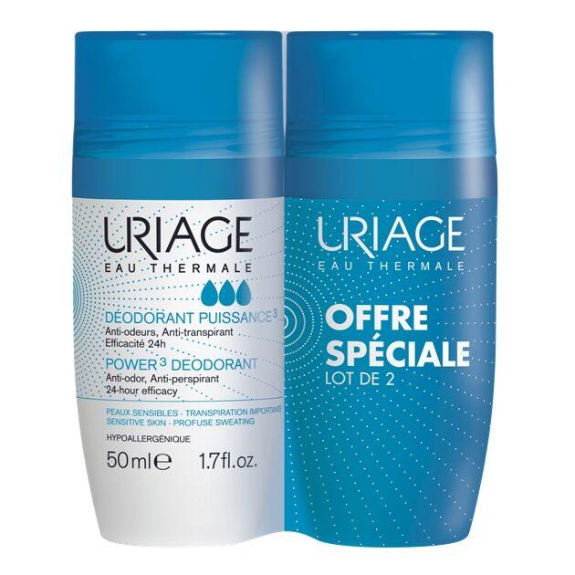 Uriage DEO Intenzív izzadásgátló golyós dezodor DUOPACK 50 ml+50 ml