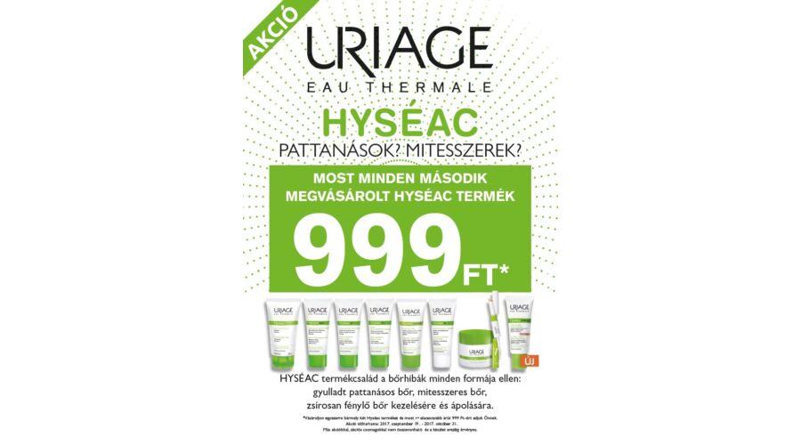 0dba6ea881 Uriage HYSÉAC 2.termék 999 Ft-os akciós áron - Önállóan nem rendelhető!